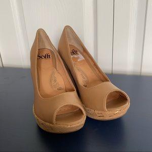 Sofft Shoes - Sofft Olivia tan cork wedge